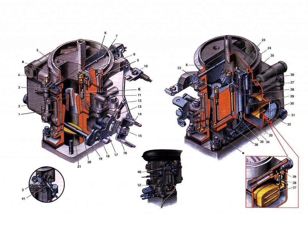 Схема карбюратора К-126