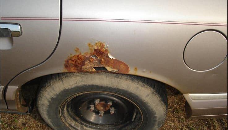 Чем удалить ржавчину с кузова автомобиля своими