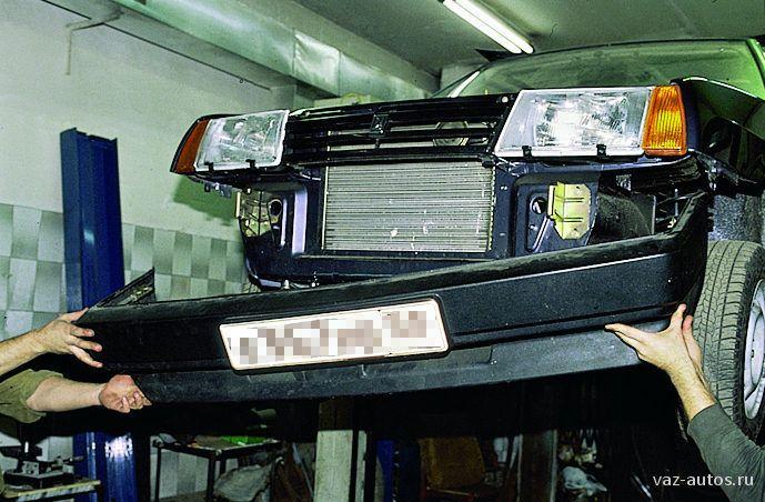 Замена бампера ВАЗ 2109
