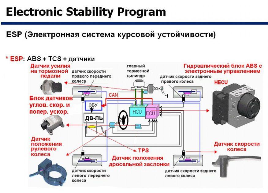 Система курсовой устойчивости ESP
