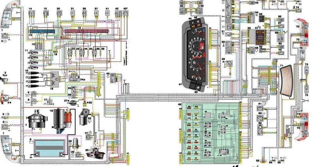 Электросхема ВАЗ 2110