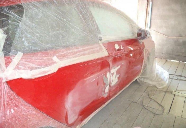 Точечная покраска автомобиля