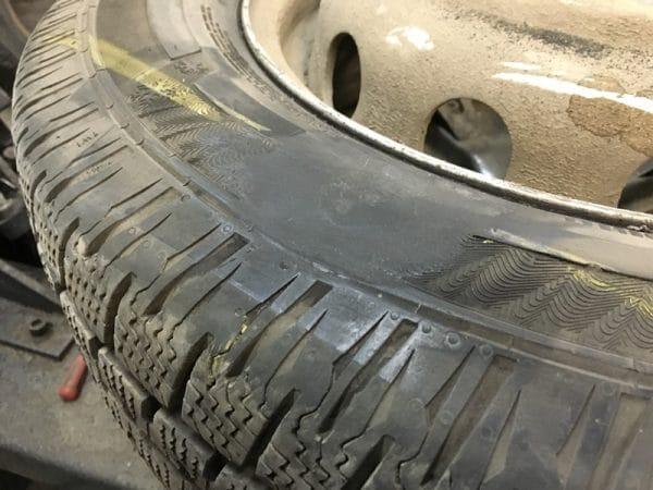 Ремонт шины горячей вулканизацией