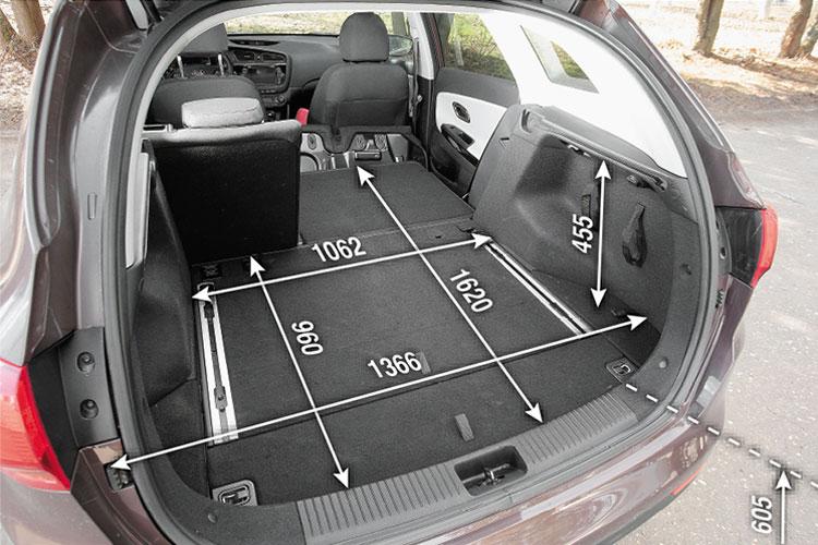 Размеры багажника Киа Сид