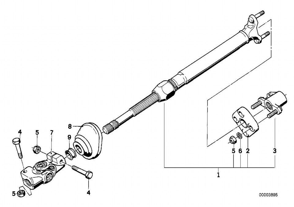Схема карданного вала BMWе39