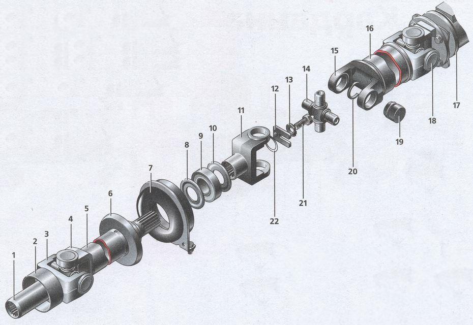 Схема карданного вала Волги 31105