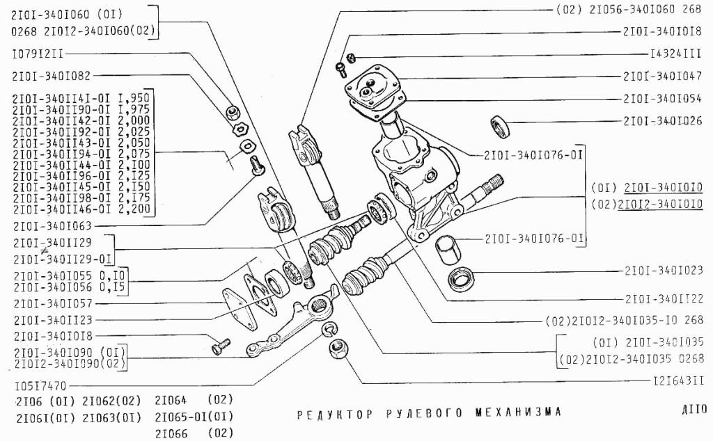 Схема редуктора ВАЗ 2106