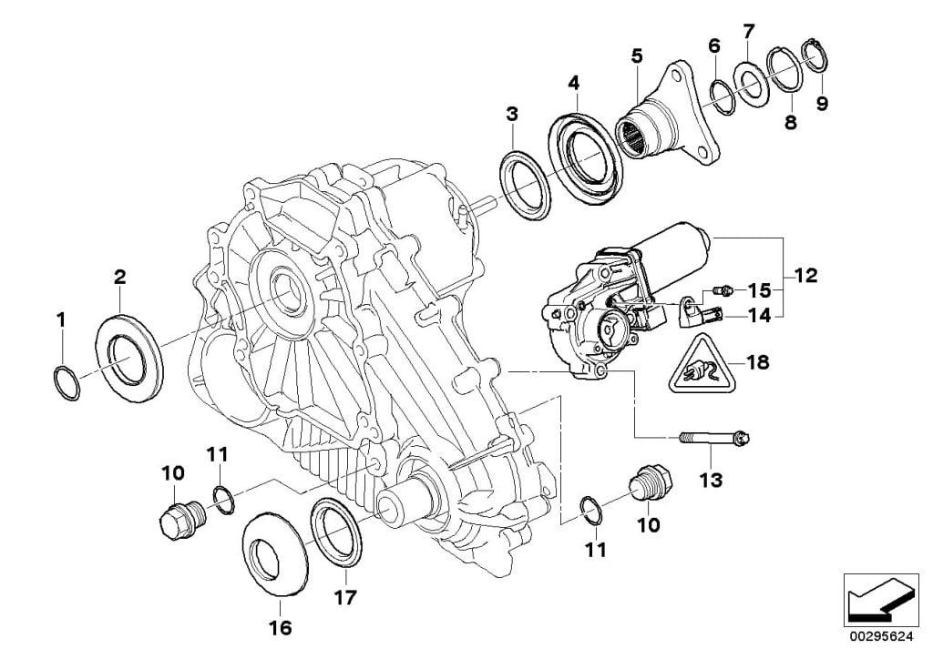 Схема раздаточной коробки BMW X5 E53
