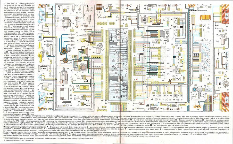 Особенности электрической схемы ВАЗ 2114