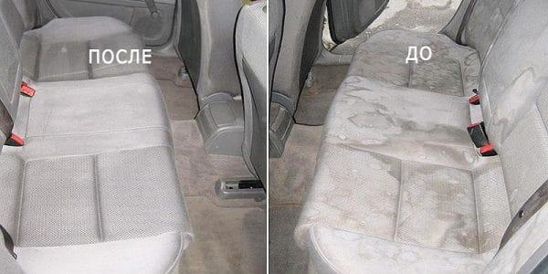 Химчистка до и после