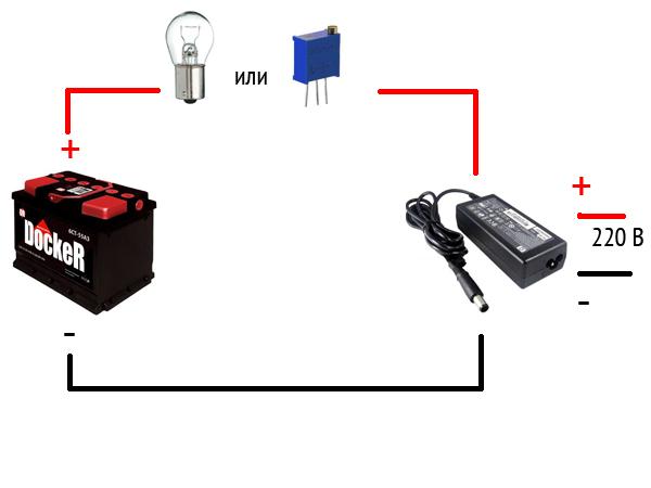 Зарядка АКБ авто с помощью ноутбука