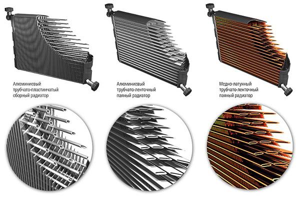 Разновидности трубок радиатора