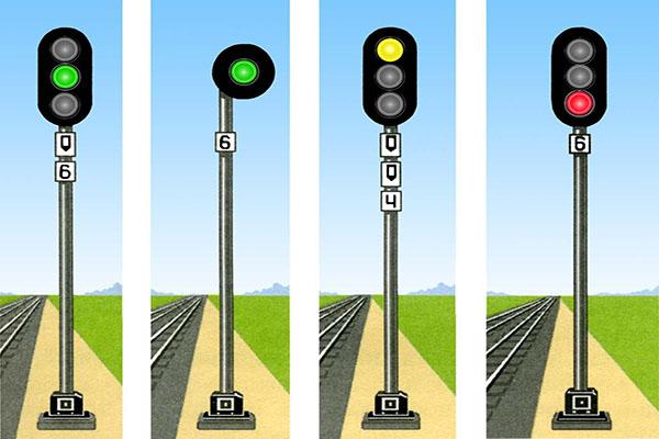 Железнодорожные светофоры
