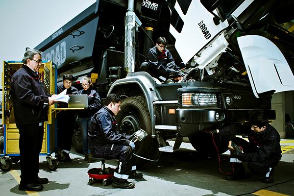 Техническое обслуживание грузового автомобиля