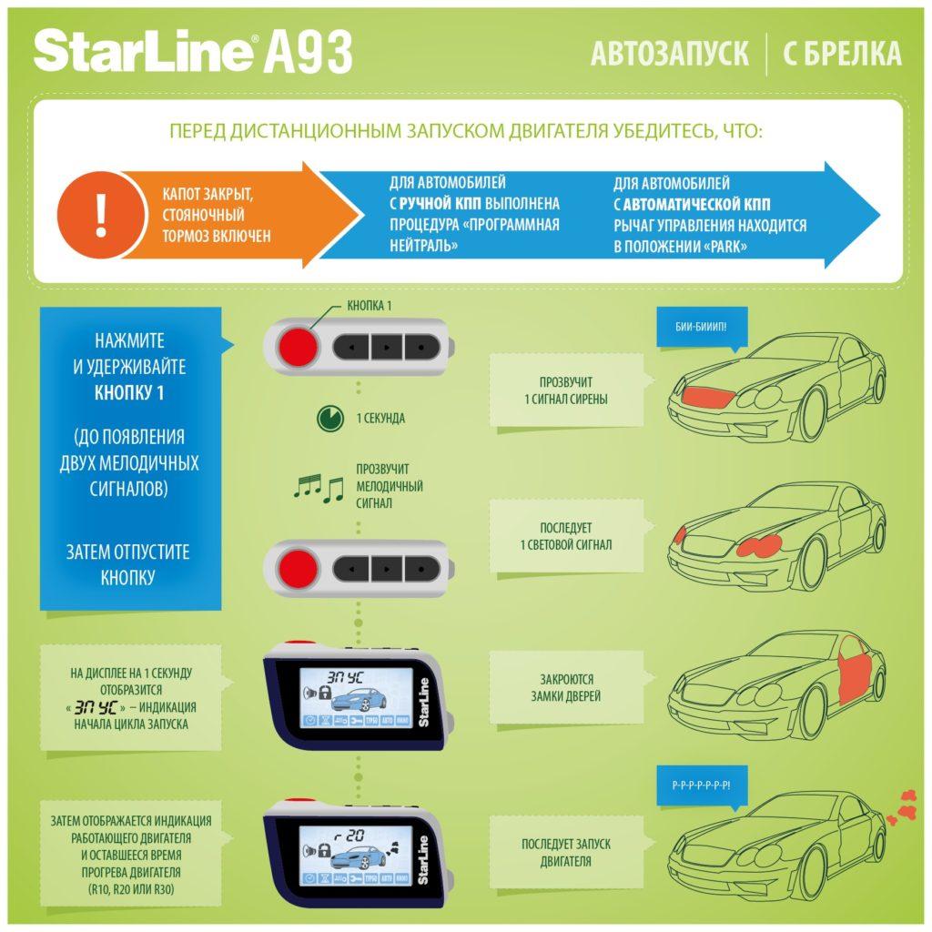 СтарЛайн а93 — Автозапуск