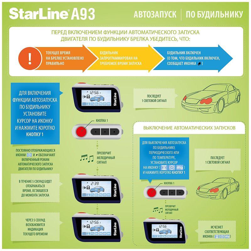 СтарЛайн а93 — автозапуск с будильника
