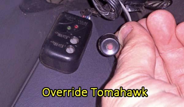 Автосигнализация Томагавк Override – клавиша