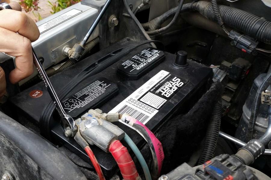 Разряд аккумуляторной батареи